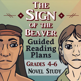 The Sign of the Beaver Guided Reading Novel Study (CCSS Aligned)