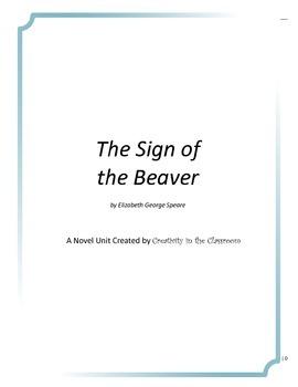 The Sign of the Beaver Novel Unit Plus Grammar