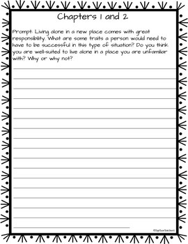 The Sign of the Beaver Quick Write Prompts and Journal