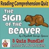 The Sign of the Beaver Quizzes + Unit Test  Bundle