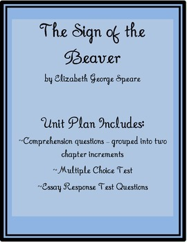 The Sign of the Beaver Unit Plan