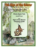 The Sign of the Beaver Whole Book Test (True/False)