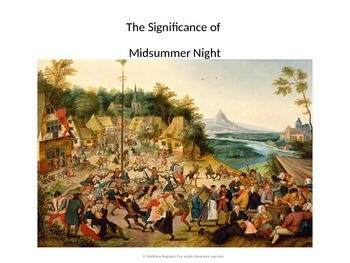 The Significance of Midsummer Night - powerpoint