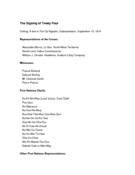 The Signing of Treaty Four