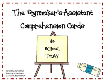 The Signmaker's Assistant Comprehension Questions