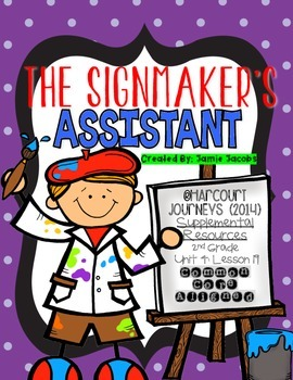 The Signmaker's Assistant (Journeys 2nd Grade - Supplement