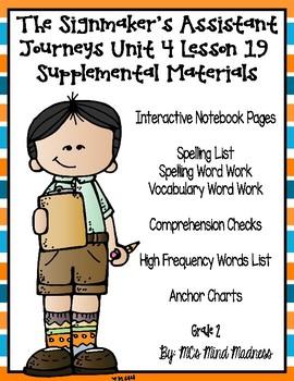 The Signmaker's Assistant Journeys Unit 4 Lesson 19