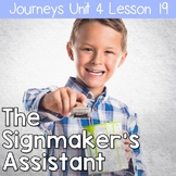 2nd Grade Journeys The Signmaker's Assistant: Unit 4 Lesson 19 Resources