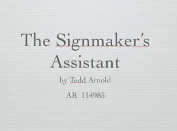 The Signmaker's Assistant Keynote