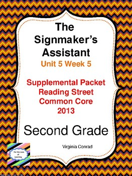 The Signmaker's Assistant:  Second Grade Reading Street Supplemental Packet