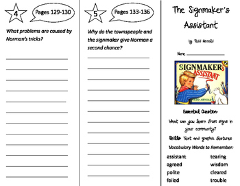 The Signmaker's Assistant Trifold - Journeys 2nd Grade Uni