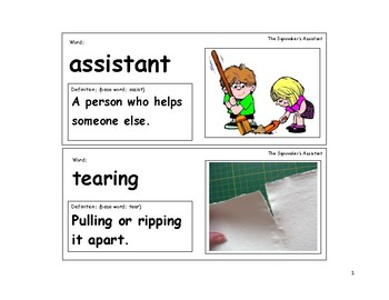 The Signmaker's Assistant Vocabulary Cards