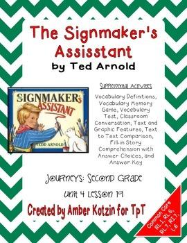 The Signmaker's Assistant Activities 2nd Grade Journeys Un