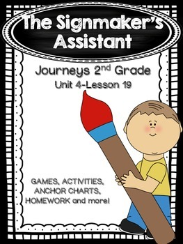 The Signmaker's Assistant Journeys 2nd Grade (Unit 4 Lesson 19)