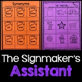 The Signmaker's Assistant Journeys Second Grade