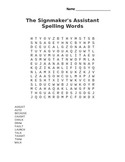The Signmaker's Assistant Spelling Word Search