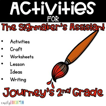 The Signmaker's Assistant Activities 2nd Grade Lesson 19