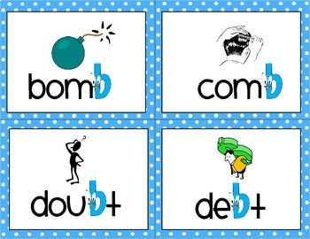 Silent Letters - Word Cards and Sorting Activity}