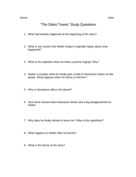 The Silent Towns Discussion Questions
