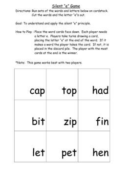 """The Silent """"e"""" Game"""