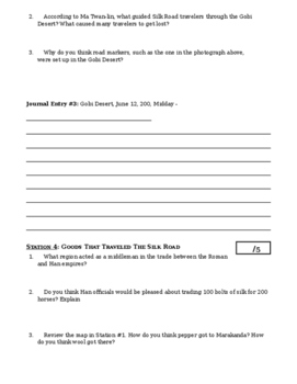 Day 033_The Silk Road - Lesson Handout