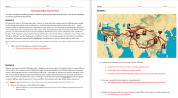 The Silk Road DBQ Activity