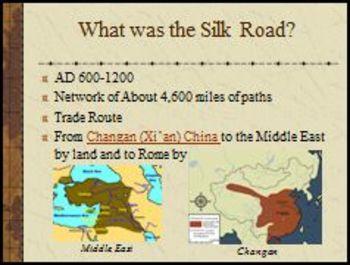 The Silk Road Lesson Plan & PowerPoint Bundle
