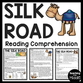 The Silk Road Reading Comprehension Worksheet Ancient China