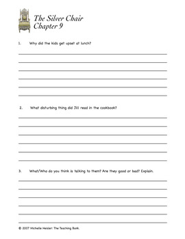 The Silver Chair Comprehension Packet