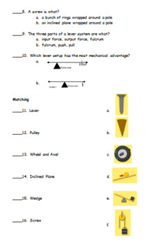 The Simple Machines Test and Study Guide