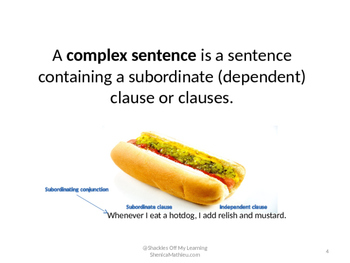 The Simple Sentence vs The Complex Sentence