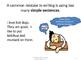 The Simple Sentence vs The Complex Sentence