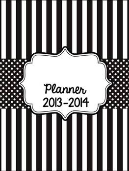 The Simple Teacher Planner - Black and White