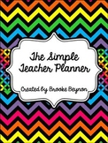 The Simple Teacher Planner - Bright Chevron
