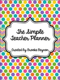The Simple Teacher Planner - Soda Pop