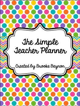 The Simple Teacher Planner - Soda Pop