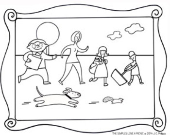 The Simples Love Coloring Sheets FREE FUN PAGES