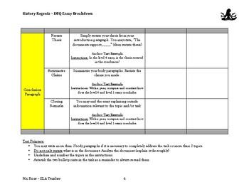 The Simplest DBQ Essay Breakdown- History Regents