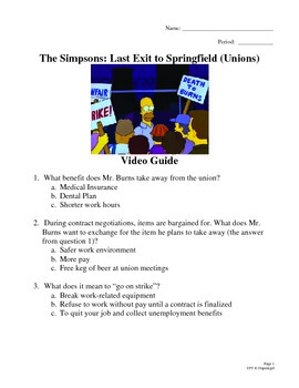 The Simpsons: Last Exit to Springfield (1993) Union Video Movie Guide