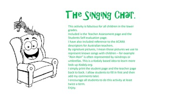The Singing Chair Assessment Activity