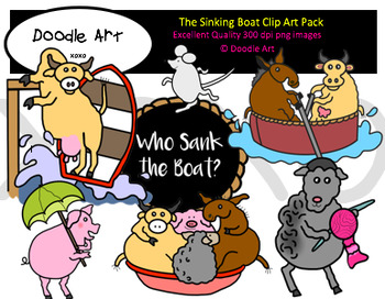 The Sinking Boat Clipart Pack