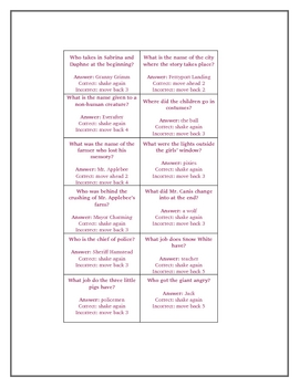 The Sisters Grimm Fairytale Detectives Game Board Activity