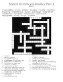 The Sisters Grimm Vocabulary Crossword Puzzles with answer keys