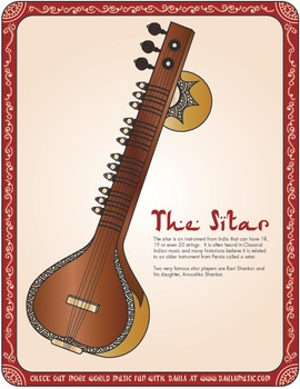 Instruments From India -The Sitar