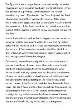 The Six-Day War Handout