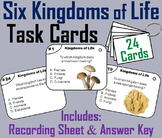 The Six Kingdoms of Life Task Cards: Plants, Animals, Bacteria, Protists, etc.