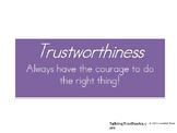 The Six Pillars of Character-Trustworthiness (Gr. 1)