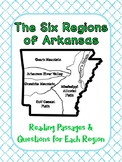 The Six Regions of Arkansas Reading Passages and Questions