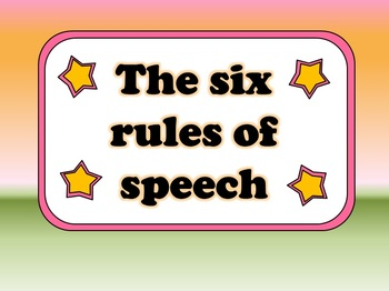The Six Rules of Speech: using the correct punctuation (a PowerPoint lesson)