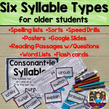 The Six Syllable Types for Older Students